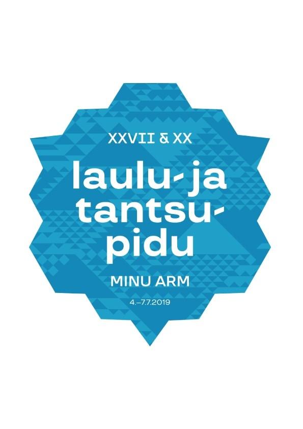 AUTOKLEEBIS laulu- ja tantsupeo logoga, sinine 2tk