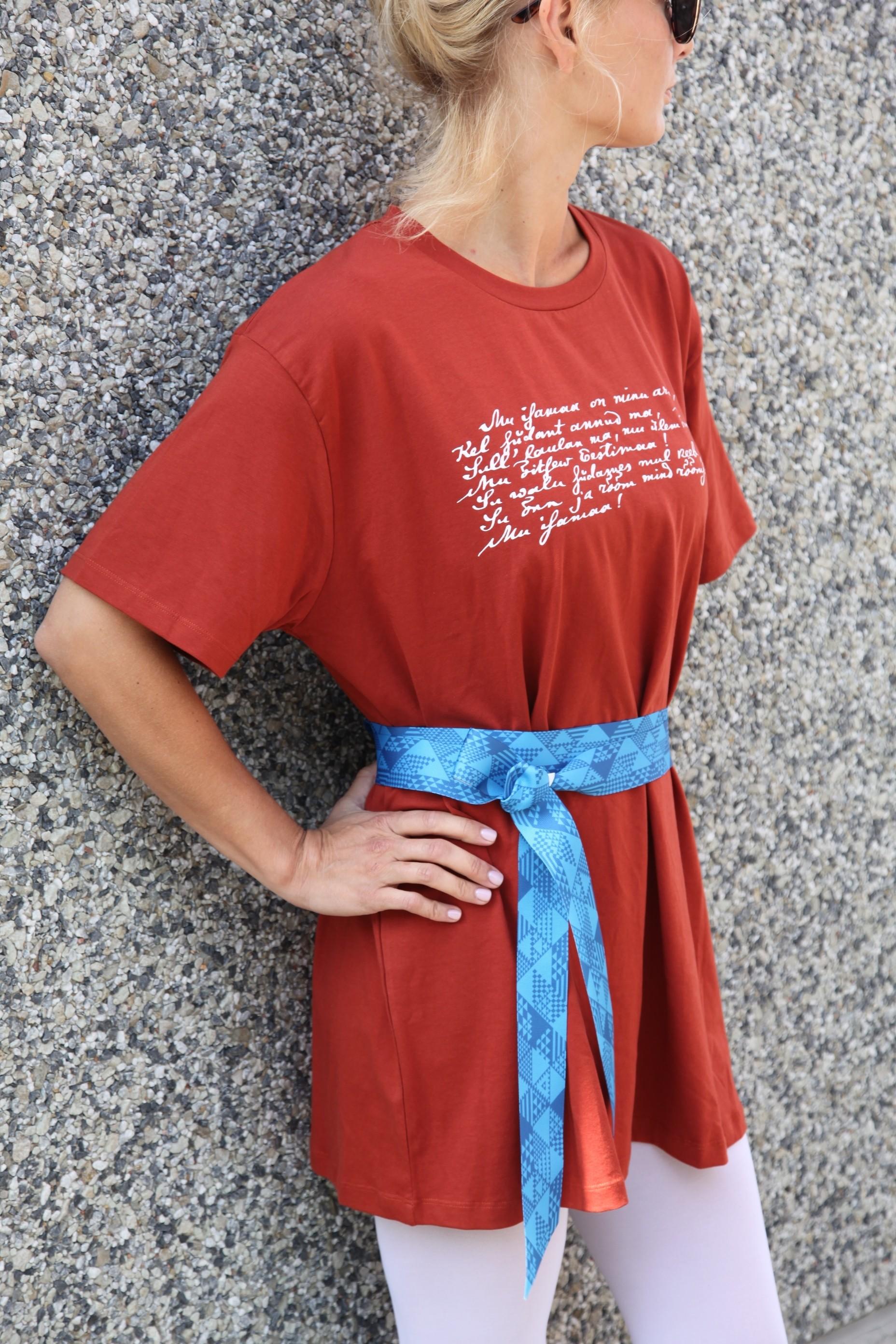 52bc286385a Laulu- ja tantsupeo kingipood - MINU ARM pruun kleit naistele