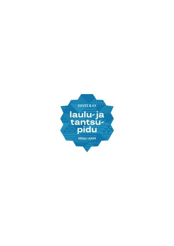 Laulu- ja tantsupeo logoga sinine kristallkleebis