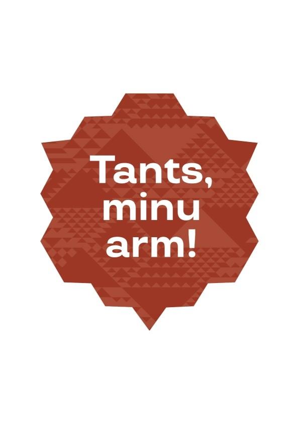da26394d464 Laulu- ja tantsupeo kingipood - Tants, minu arm! kleebis, pruun, 10cm