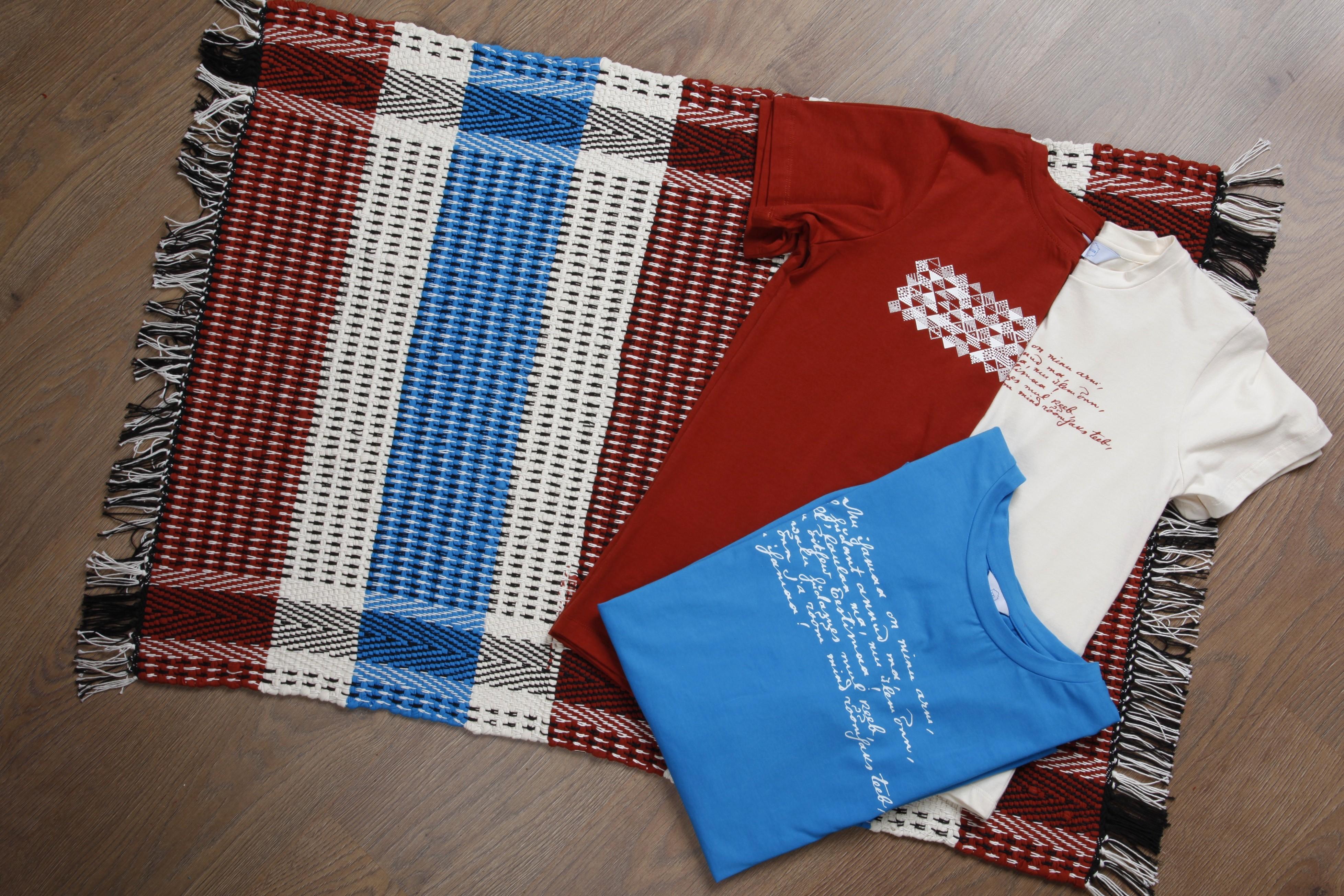 Laulupeo särkidest valmistatud kaltsuvaip 70 x 100 cm