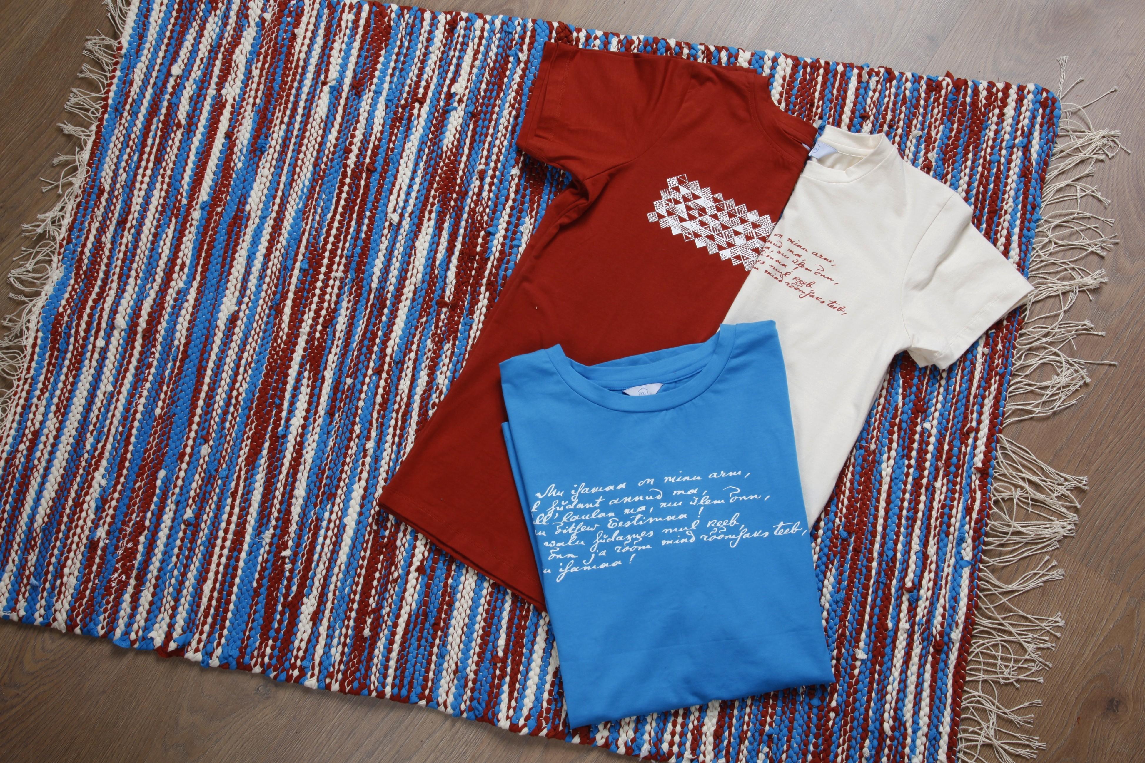 Laulupeo särkidest valmistatud kaltsuvaip 80 x 115 cm