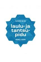 Laulu- ja tantsupidu kleebis, sinine, 10cm