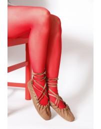 ECOCARE punased 3D 40DEN recycled naiste sukkpüksid rahvariiete juurde
