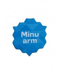 Minu arm sinine metallist rinnamärk 45mm, nõelkinnitusega