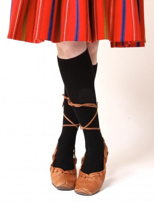 Women's cotton knee-highs, black
