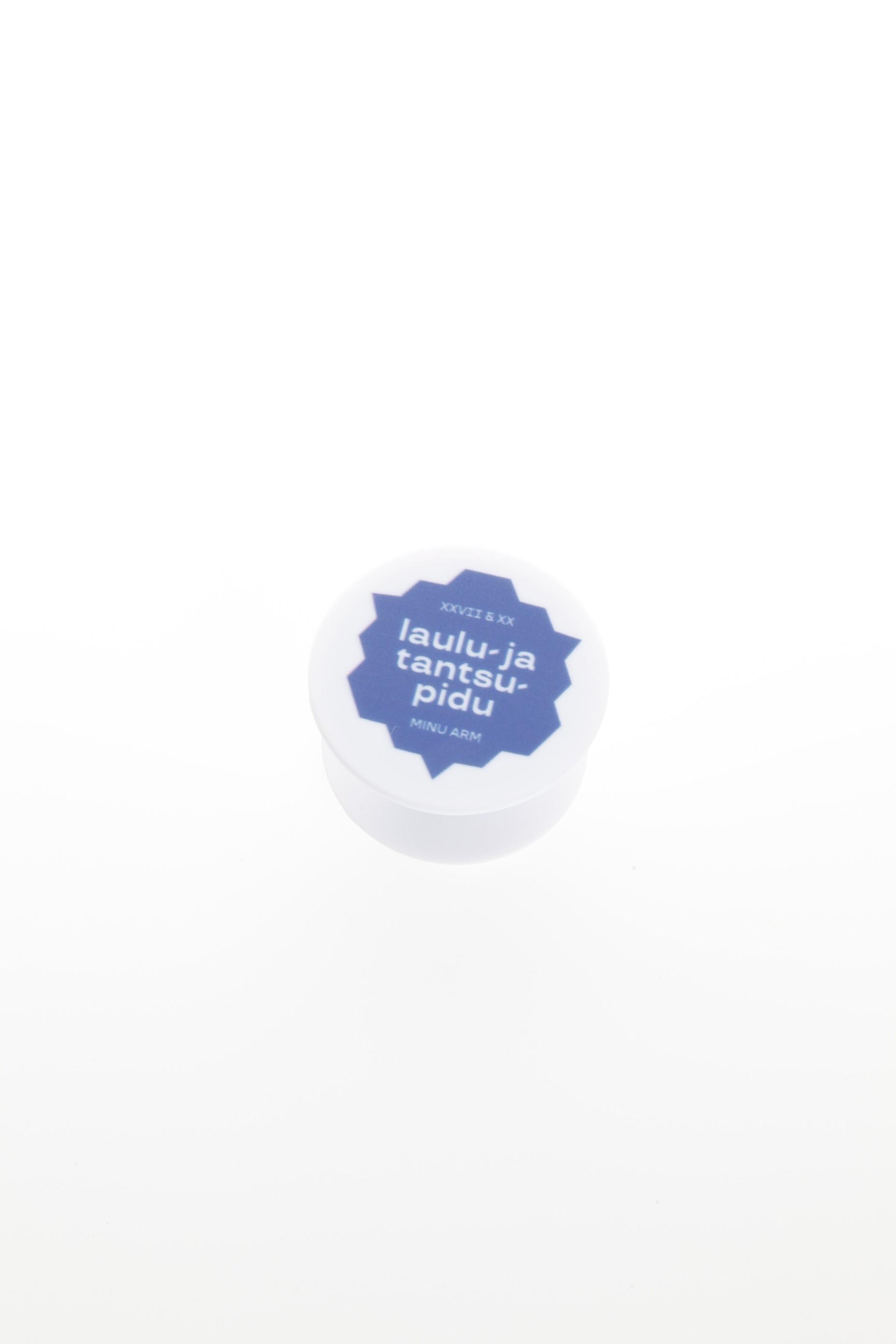 Blue PopSocket for a mobile phone
