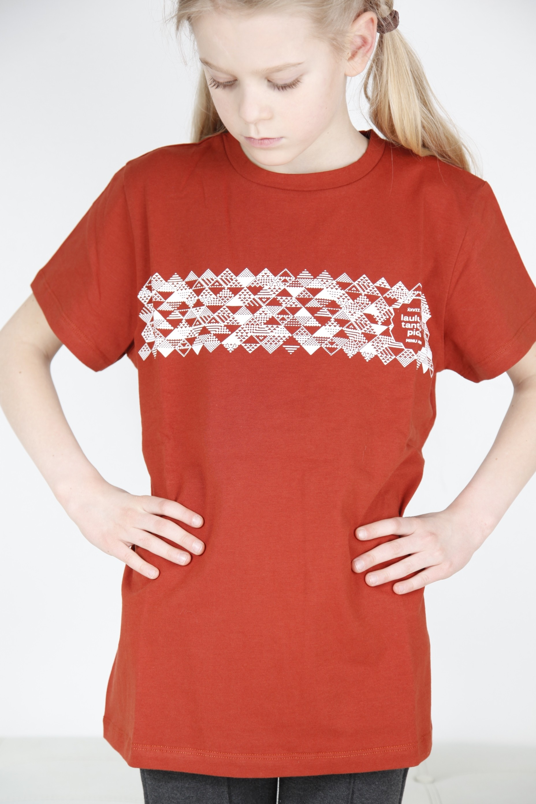 Children's brown T-shirt MUUSIKA (music)