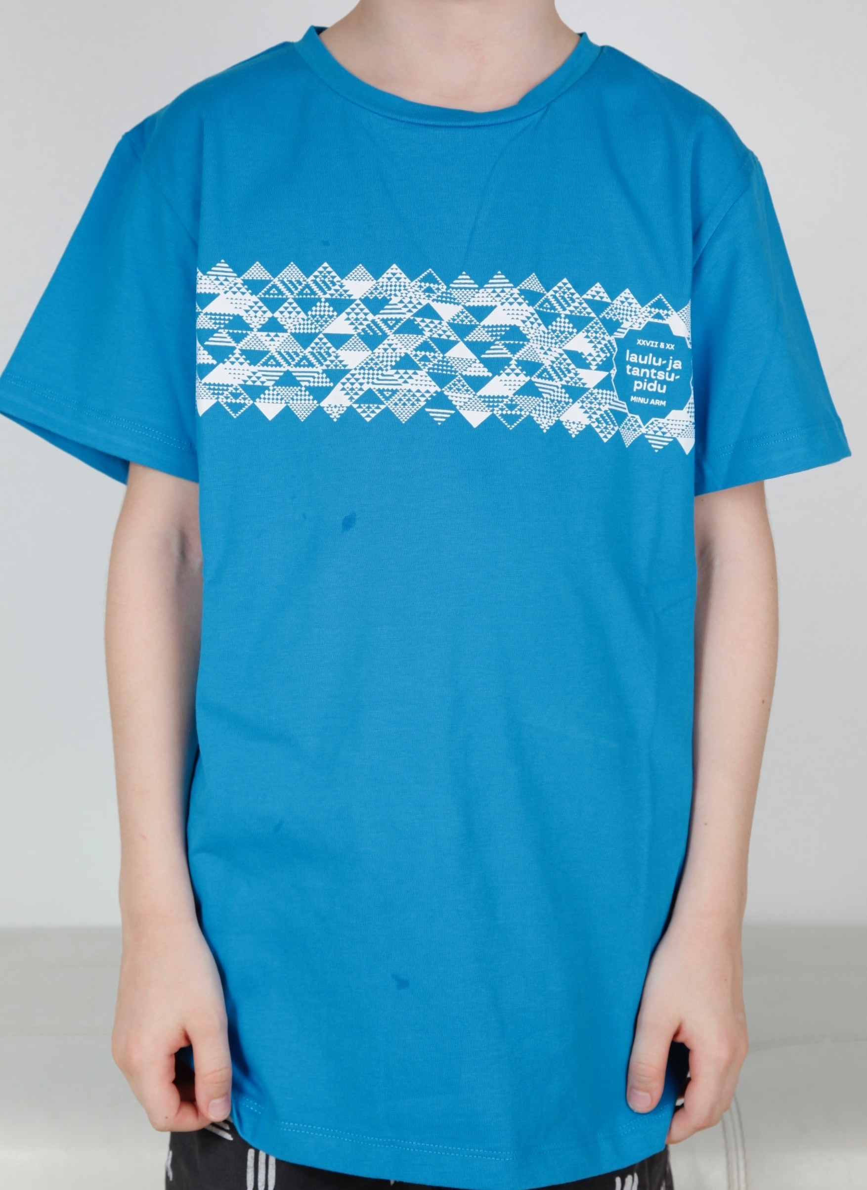 Children's blue T-shirt MUUSIKA (music)