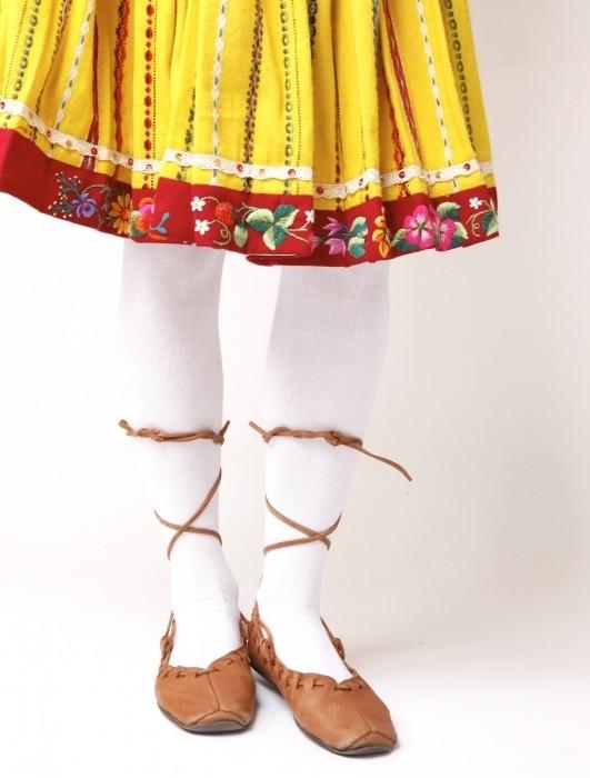 KAISA cotton tights, white