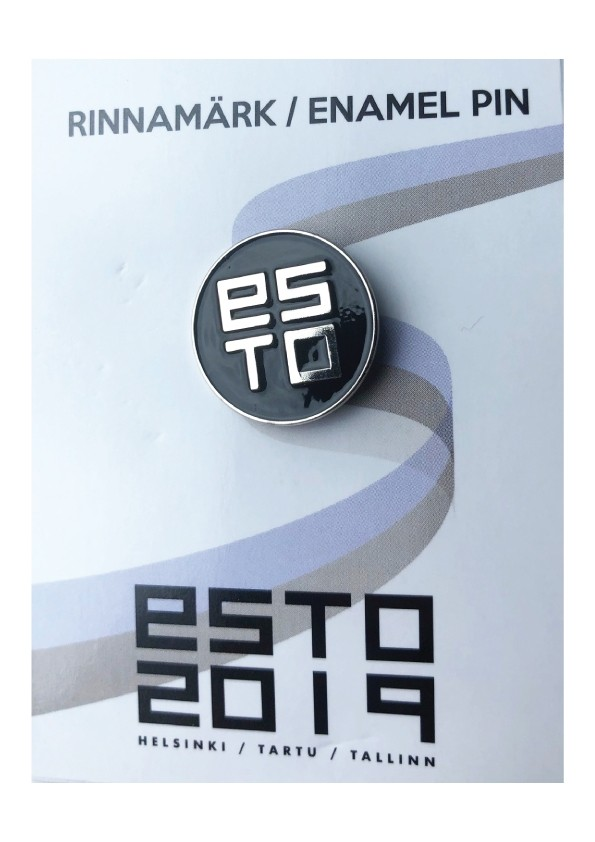 Black pin badge ESTO