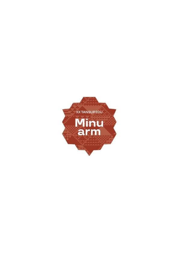 """Minu arm"" (My love) blue domed sticker"