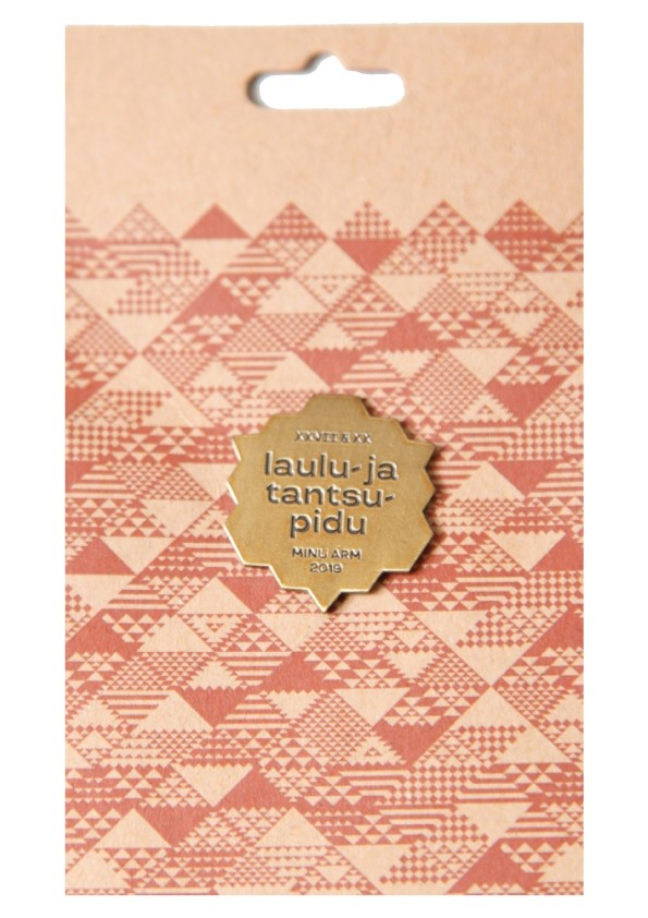 Elegant golden metal pin badge