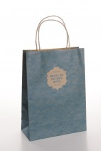 Gift bag with a blue pattern of the Song and Dance Celebration, 180x80x250mm