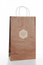 Gift bag with a brown pattern of the Song and Dance Celebration, 230x100x330mm