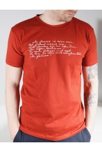 Men's brown T-shirt MINU ARM (my love)