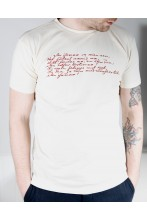 Men's beige T-shirt MINU ARM (my love)