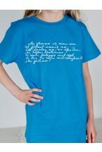 Children's blue T-shirt MINU ARM (my love)