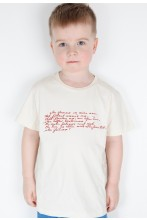 Children's beige T-shirt MINU ARM (my love)