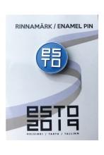 Blue pin badge ESTO