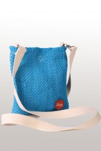 Blue shoulder bag made of Song Celebration T-shirts 18 x 21 cm