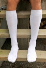 Men's cotton knee-highs, white
