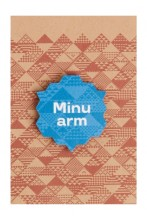 """My love"" blue wooden magnet badge, 35 mm"