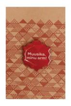 Music, my love! brown metal magnet badge, 30 mm