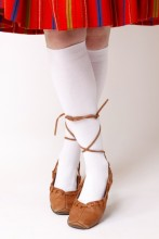 Women's cotton knee-highs, white
