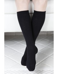 Children's cotton knee-highs, black