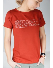 Women's brown T-shirt MINU ARM (my love)