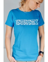 Women's blue T-shirt MUUSIKA (music)