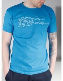 Men's blue T-shirt MINU ARM (my love)