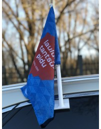 Car flag with a Song and Dance Celebration logo