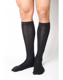 Men's cotton knee-highs, black