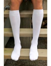 Men's cotton knee-highs, white