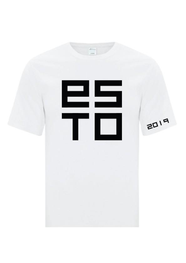 Хлопковая футболка ESTO, цвет: белый
