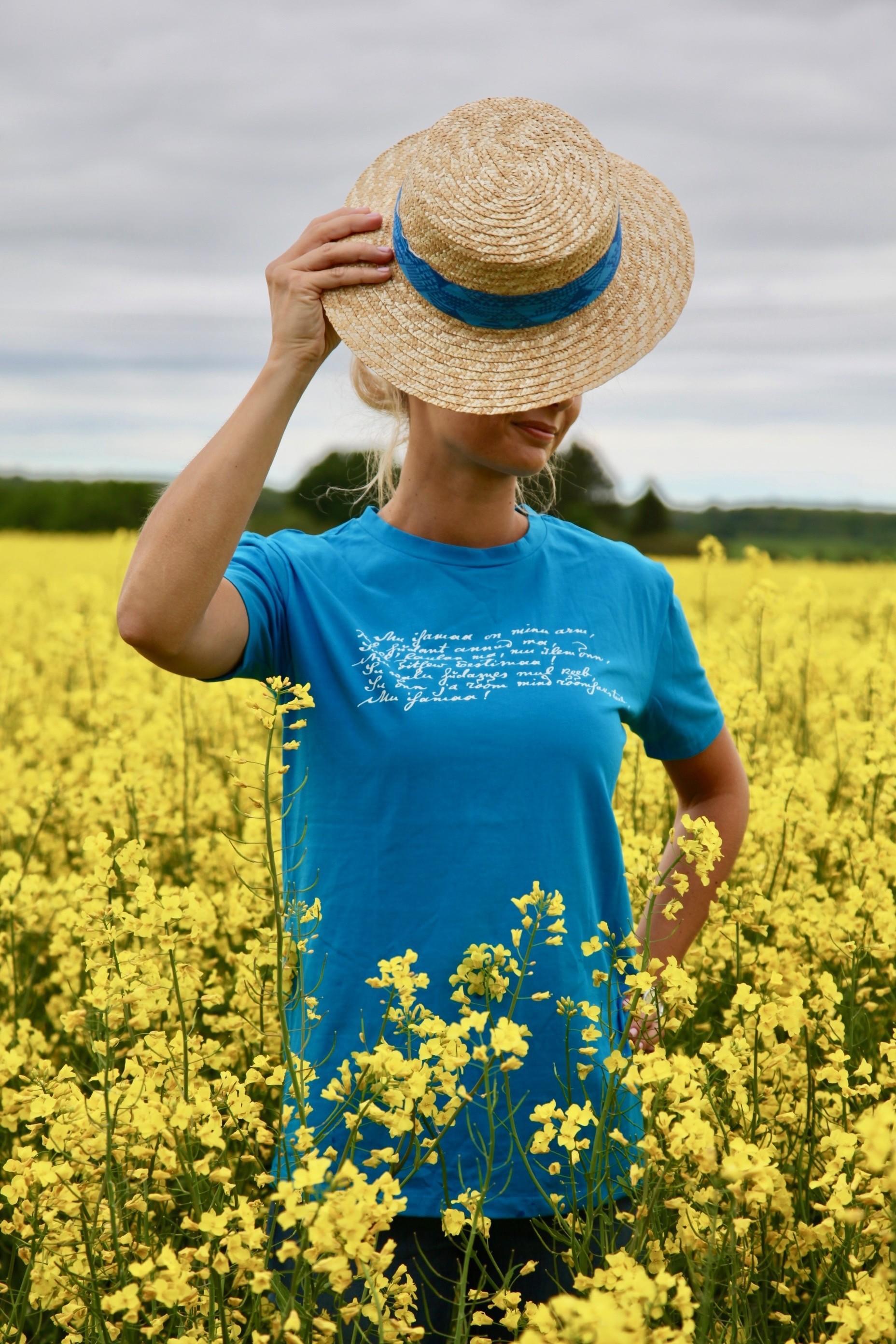 Женская футболка MINU ARM (моя любовь), цвет: синий