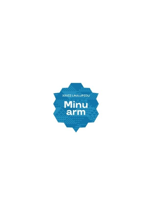 """Объемная наклейка """"Minu arm"""" (Моя любовь), цвет: синий"""