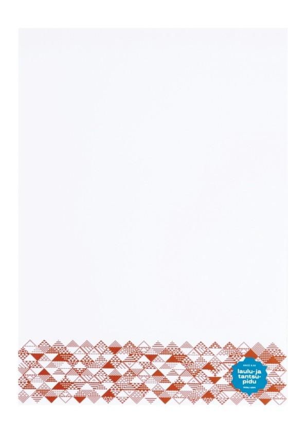 Блок для записей формата A5 с символикой Праздника песни и танца