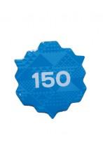 """Металлический значок с цанговым креплением """"150"""", 45 мм, цвет: синий"""