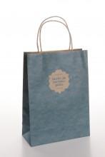 Подарочный пакет с синим узором Праздника песни и танца, 180x80x250 мм