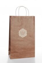 Подарочный пакет с коричневым узором Праздника песни и танца, 230x100x330 мм