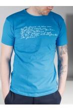 Мужская футболка MINU ARM (моя любовь), цвет: синий