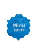 """Металлический значок с цанговым креплением """"Minu arm"""" (Моя любовь), 45 мм, цвет: синий"""