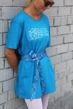 Женское платье синего цвета MINU ARM («Моя любовь»)