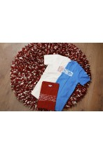 Laulupeo särkidest valmistatud punane kaltsuvaip 110 cm
