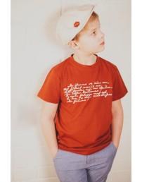 Детская футболка MINU ARM (моя любовь), цвет: коричневый