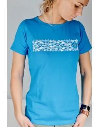Женская футболка MUUSIKA (музыка), цвет: синий