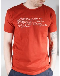 Мужская футболка MINU ARM (моя любовь), цвет: коричневый